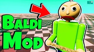 Brand New Baldi's Basics in Education and Learning Mod! Giant Baldi in Brick Rigs #1