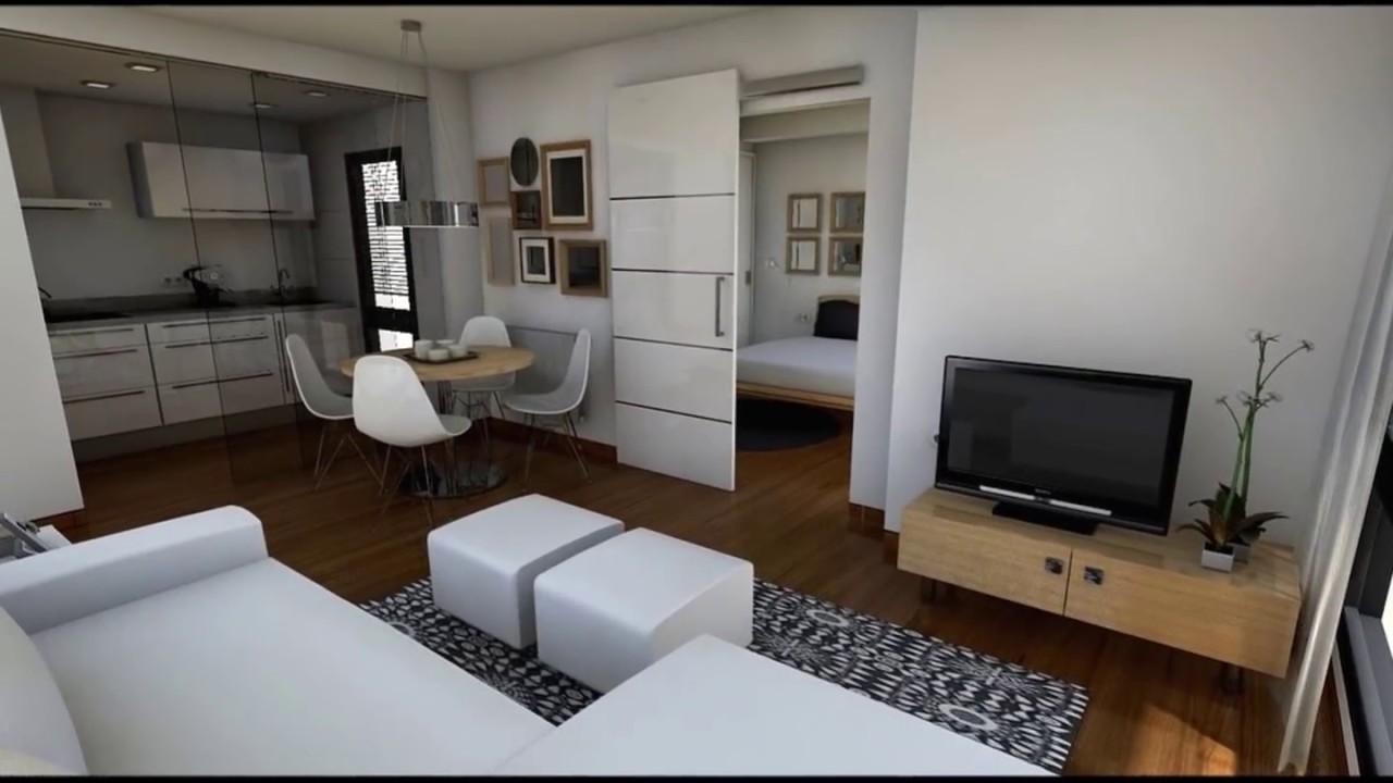 Diseo Interior Apartamento 40 m2  YouTube