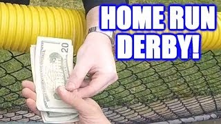 PAYING TO REPLACE BROKEN GLASS IN A HOME RUN DERBY! | On-Season Softball Series