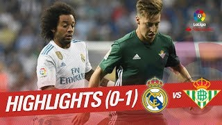 Resumen de Real Madrid vs Real Betis (0-1)