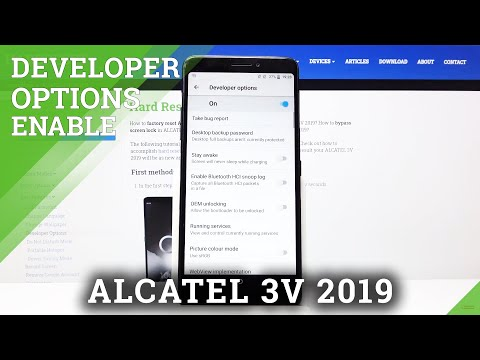 How to Enable Developer Options in ALCATEL 3V 2019 – Find Advanced Options