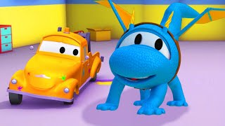 Car garage for kids - Hector the DRAGON - Tom's Paint Shop in Car City