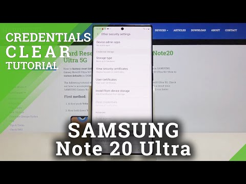 How to Clear Credentials in SAMSUNG Galaxy Note 20 Ultra – Delete Licenses