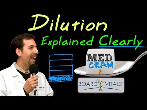 Dilution Explained Clearly by MedCram.com - A BoardVitals Exam Question