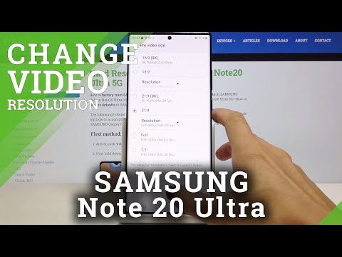 How to Switch Video Resolution in SAMSUNG Galaxy Note 20 Ultra – Video Quality