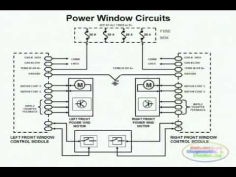 2000 grand caravan radio wiring diagram d85 digital meter power window 1 - youtube