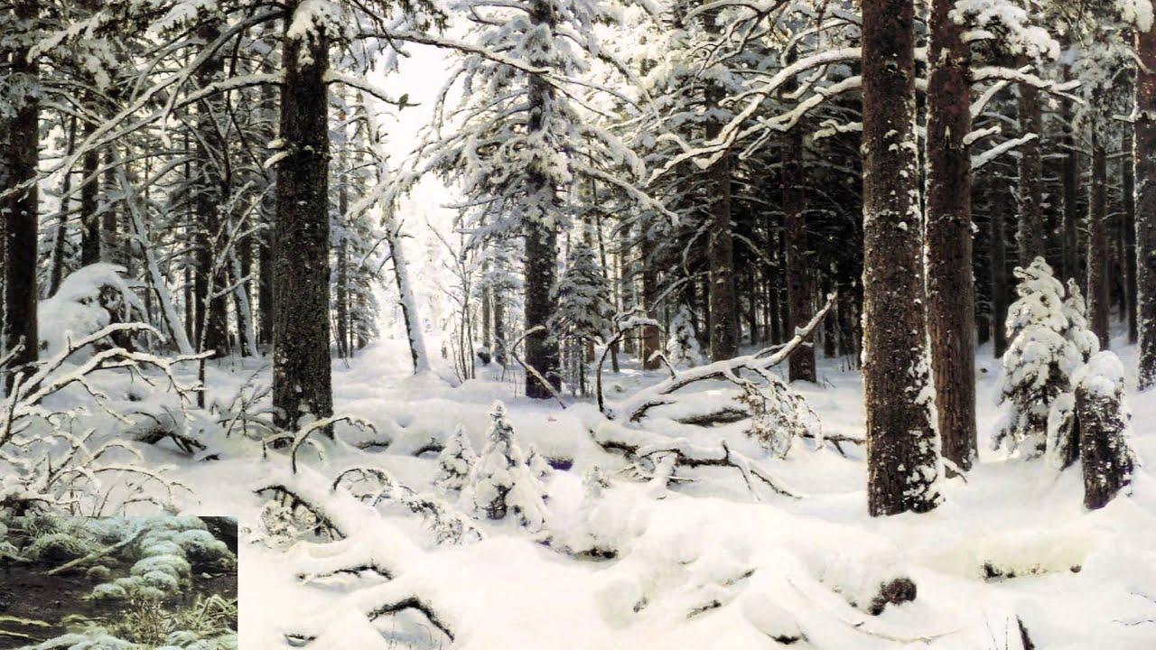 Paesaggio Invernale Da Ritagliare