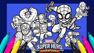 Marvel Avengers Coloring page   SUPER HERO ADVENTURES