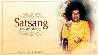 Divine Satsang Live from Muddenahalli : 06 January 2019 Free