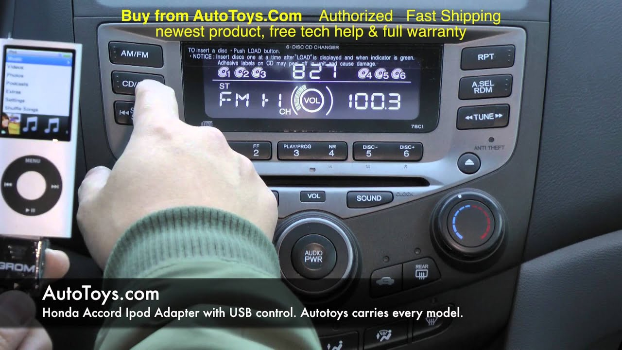 2003 Honda Civic Cd Player Wiring Diagram Honda Accord Usb Ipod Iphone Grom Interface With Aux Mp3