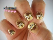 monkey nail art - dise de u