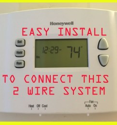 2 wire honeywell thermostat wiring diagram [ 1280 x 720 Pixel ]