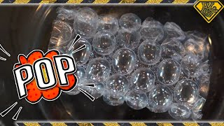 Bubble Wrap in a Vacuum Chamber