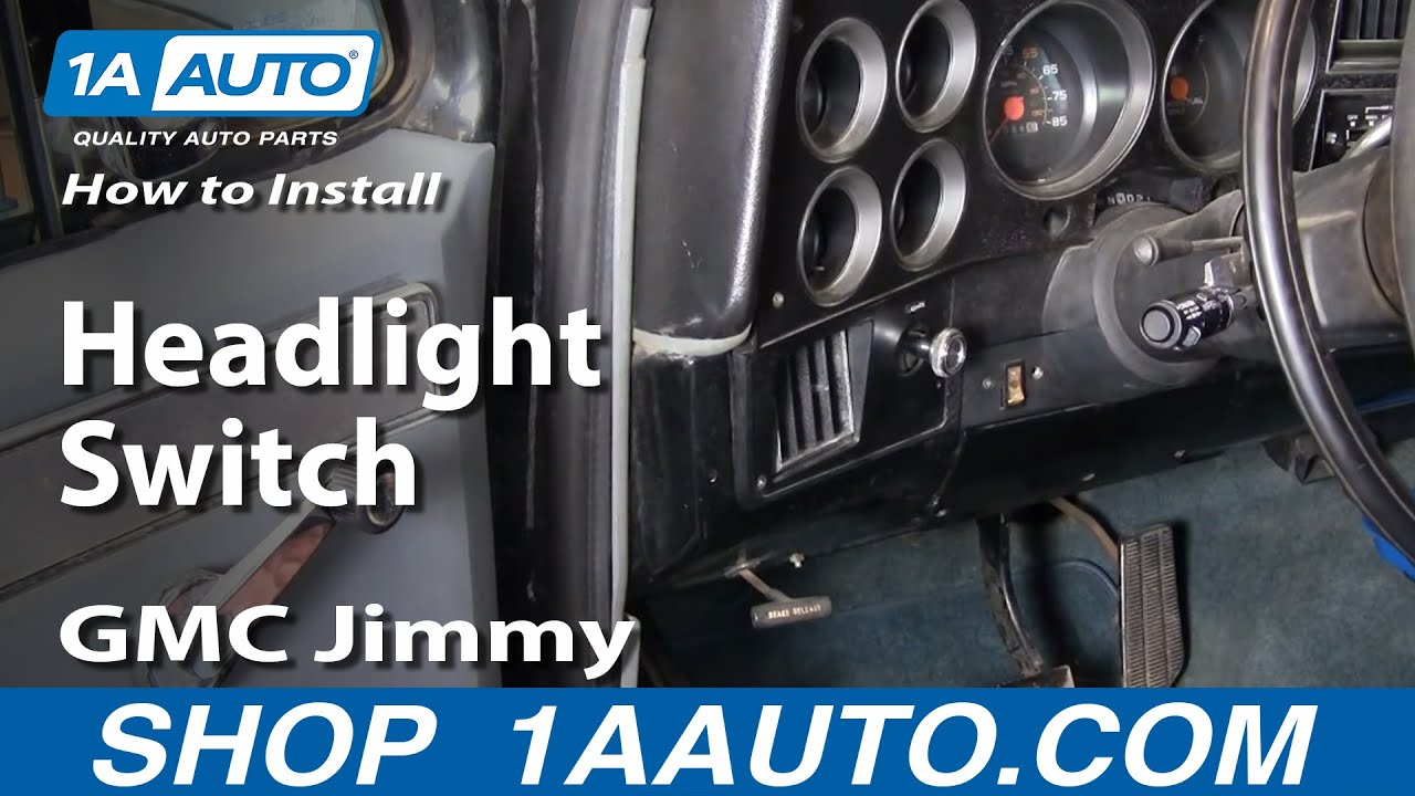 2000 gmc sierra 1500 headlight wiring diagram 1990 club car battery 36 volt how to install replace switch chevy pontiac ford dodge 1aauto.com - youtube