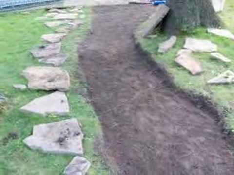 Make A Stone Walkway Youtube