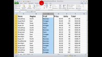 How To... Create a Simple Filter in Excel 2010 - YouTube