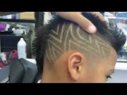 mohawk and faded star hair design
