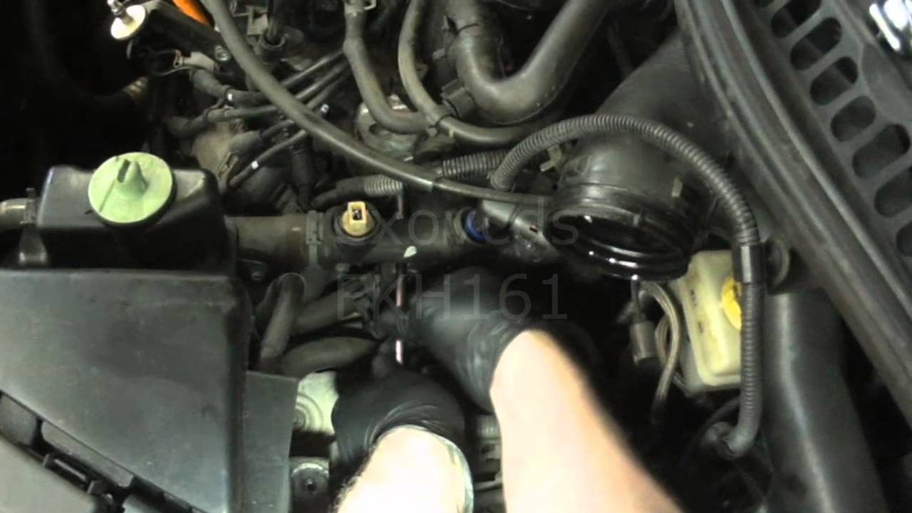 1999 holden vectra wiring diagram sprinkler valve parts vw a4: new beetle 2.0l side coolant flange removal & install - youtube