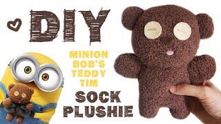 DIY Minion Bob's Teddy Bear Tim Sock Plushie