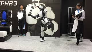 Demonstration of T-HR3 robot by Toyota at iRex17 (part 2 of 2) [RAW ]