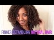 finger detangling natural hair