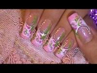 Summer Wedding Bride Nail Design Tutorial - Nail Degins 3D ...