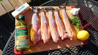 CATCH CLEAN n' COOK!! Pan Cooked FRESH TROUT!