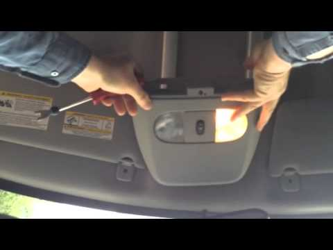 2003 Hyundai Santa Fe Fuse Box Diagram Dome Light Removal Youtube