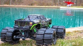 WILL IT DRIVE ON WATER!! (MONSTER TRUCK XMAXX MOD)