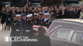 Final farewell as President George H.W. Bush returns home to Houston