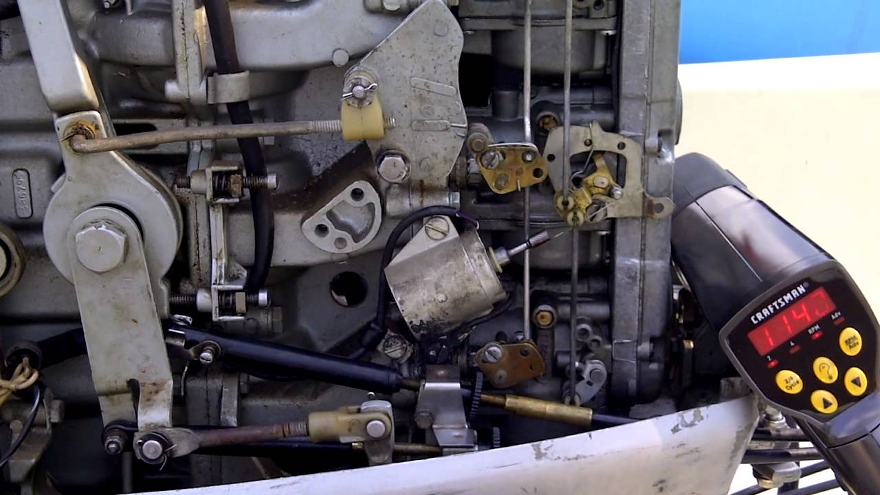 75 Hp Johnson Ignition Wiring 76 75hp Evinrude High Idle Youtube