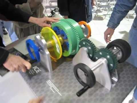model of Toyota Hybrid Synergy Drive - YouTube
