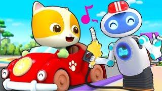 Magical Robot Gas Pumper   Doctor Cartoon, Police Truck   Kids Cartoon   Kids Cartoon   BabyBus