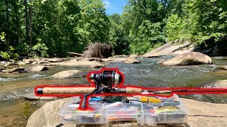 I FOUND A SECRET SPOT WHILE CREEK FISHING!!! (LOADED WITH FISH)
