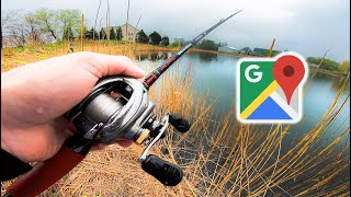 Google Maps Fishing Challenge — Finding HIDDEN Ponds Loaded w/ Fish