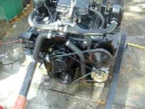 57 Small Block Chevy 350 Rebuilt Marine Engine Test  YouTube