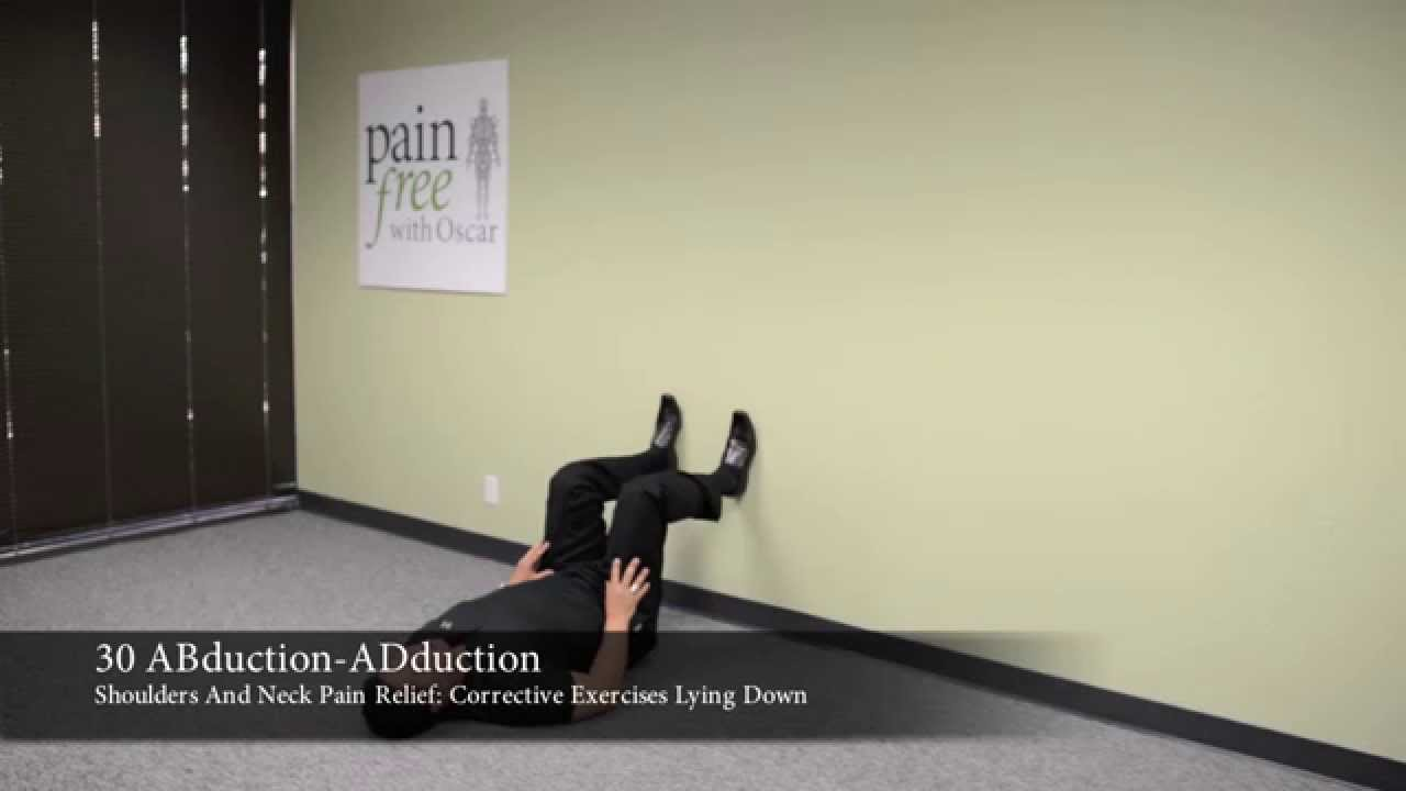 Shoulder & Neck Pain Relief: Corrective Exercises Lying ...