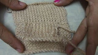 HINDI I HOW TO KNIT POCKET -KNIT ON OUTSIDE OF YOUR SWEATER #1