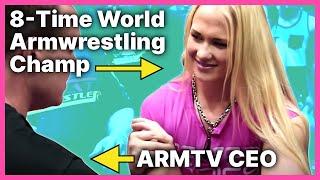 World Champion Armwrestler Sarah Backman Vs Gary Roberts ARM TV