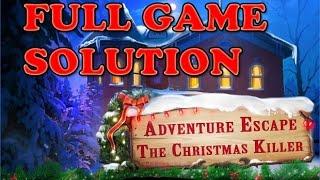 ADVENTURE ESCAPE THE CHRISTMAS KILLER 18, 19, 20, 21, 22, 23, 24, 25 December Walkthrough