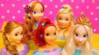 Salão de Beleza Como Fazer Penteados para Princesas Disney Elsa Anna e Mais -Brinquedonovelinhas