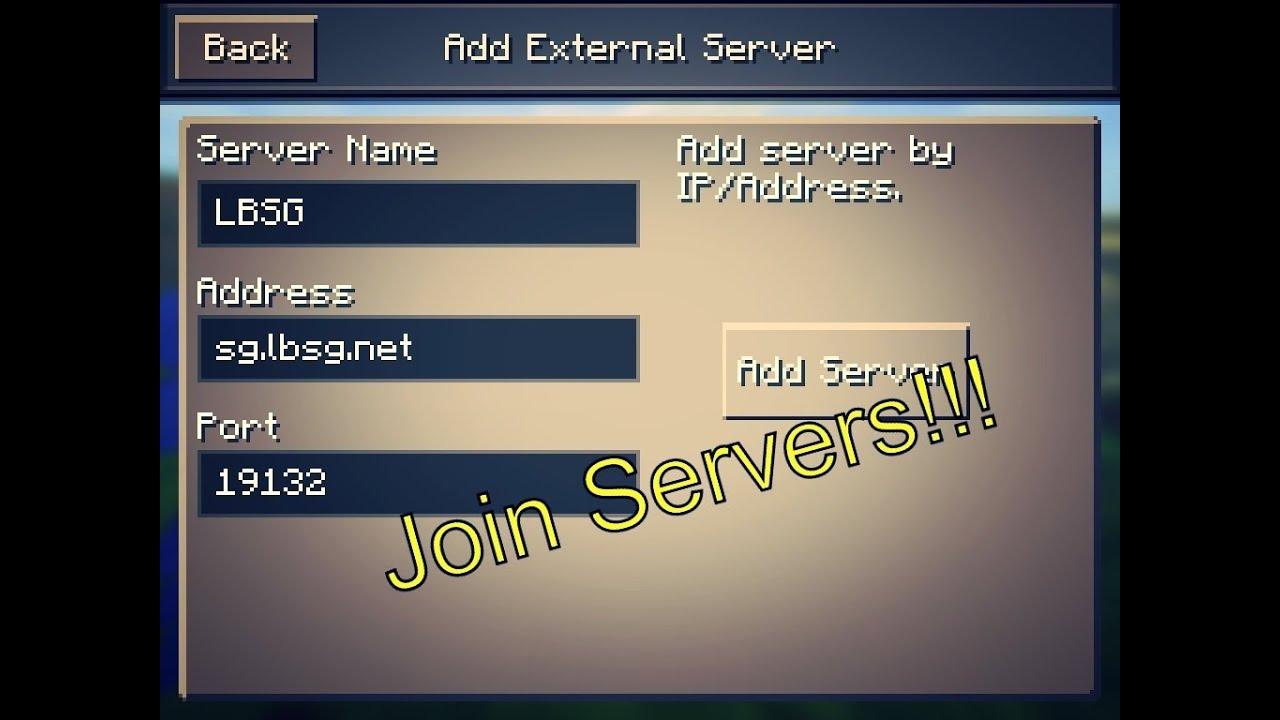 Find Where Can Server Pe I Minecraft Address