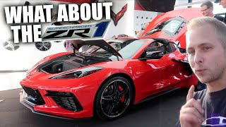 First Look at the C8 Corvette in person at Woodward Dream Cruise 2019