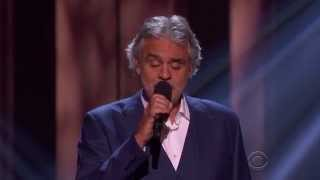 Andrea Bocelli sings I Just Called To Say I Love You