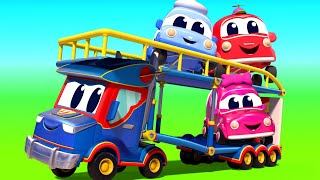 Truck for kids - Super CARRIER TRUCK and the ACROBATICS VEHICLES - Super Truck in Car City !