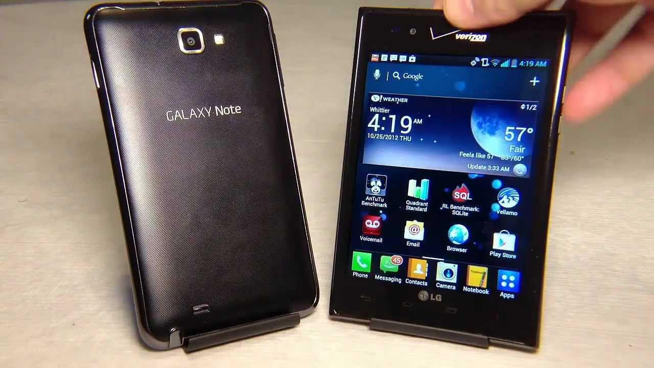 Lg Intuition Vs Galaxy Note