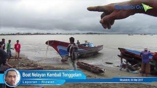 Boat Nelayan Kembali Tenggelam di Muara Krueng Cangkoi
