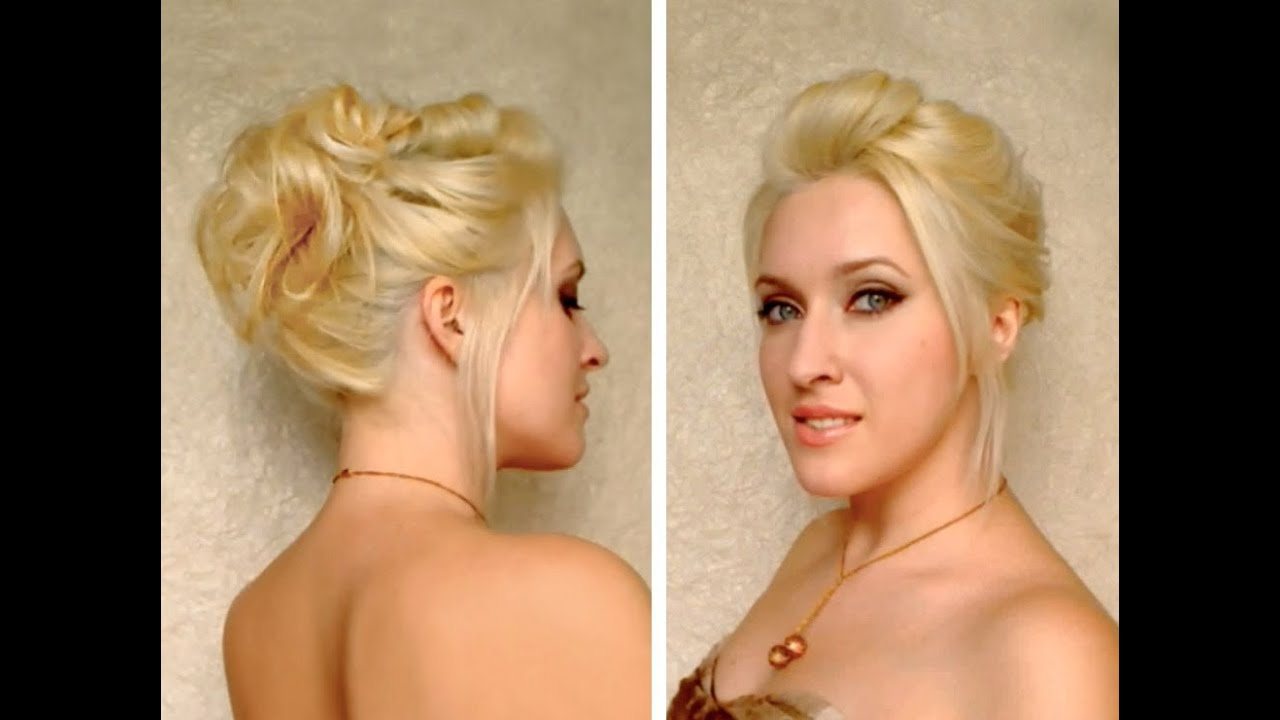 Easy party updo for medium long layered hair tutorial Cute everyday hairstyle for a night out