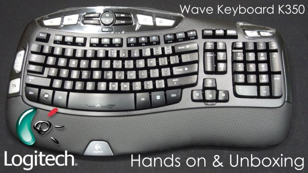 Logitech WAVE Wireless K350 Keyboard Hands On Review