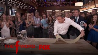 Gordon Ramsay Attempts To Set A World Record For Pasta Rolling | Season 1 Ep. 11 | THE F WORD